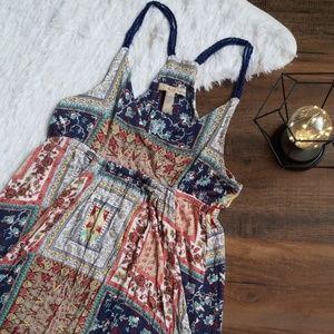 American Rag Boho Paisley Bubble Dress Large